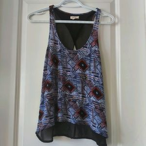 *2 for 20: silence+noise   Flowy printed tank top